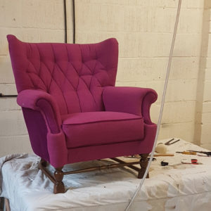 1940s German wing back chair