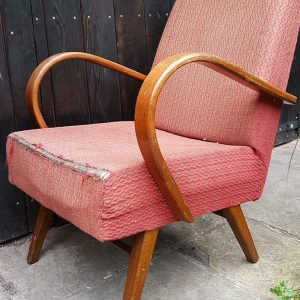 Halabala Chair before reupholstering